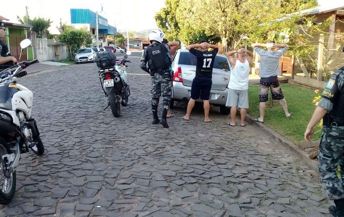 Ação em combate ao tráfico de drogas realizada na cidade Foto: Brigada Militar