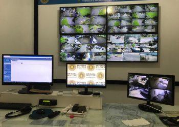 Sistema de videomonitoramento é apontado como um dos principais fatores para o baixo índice de crimes Foto: Lilian Moraes