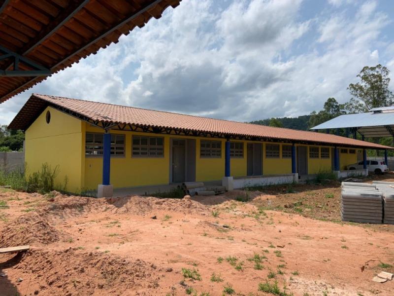 Escola está em avançado estágio de construção e ficará pronta em março de 2020, conforme estimativa da prefeitura Foto: Simec/Mec
