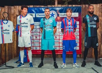 Clube entra em campos vestindo novos uniformes anunciados recentemente. Foto: Micheli Almeida