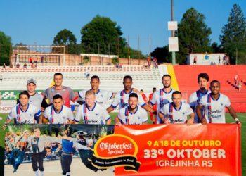 Time profissional e sub-13, duas das categorias apoiadas pelo SICOOB  Fotos:  Micheli Almeida/Divulgação - Igrejinha