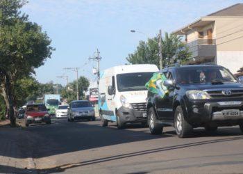 Carreata em Parobé aconteceu durante a manhã. Foto: Matheus de Oliveira