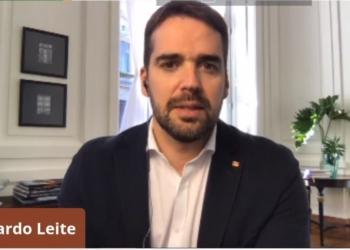 Leite apresentou plano de retomada em transmissão ao vivo no Facebook.Foto: Reprodução