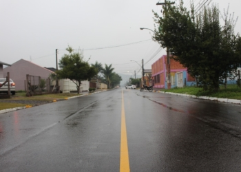 Rua Teodoro Bischoff foi asfaltada recentemente Foto: Lilian Moraes