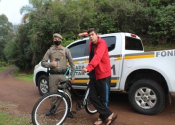 Uma das bicicletas entregues na quinta-feira, 11, para o jovem Aigo, morador do bairro Grassmann Foto: Lilian Moraes