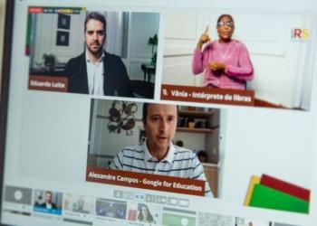 Integrantes do Google For Education informaram durante a live os primeiros passos para o acesso às Aulas Remotas da Seduc - Foto: Gustavo Mansur / Palácio Piratini