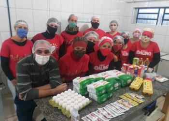 Em uma das semanas, pães foram produzidos por professores e alunos da escola Fotos: Divulgação Escola Idalino