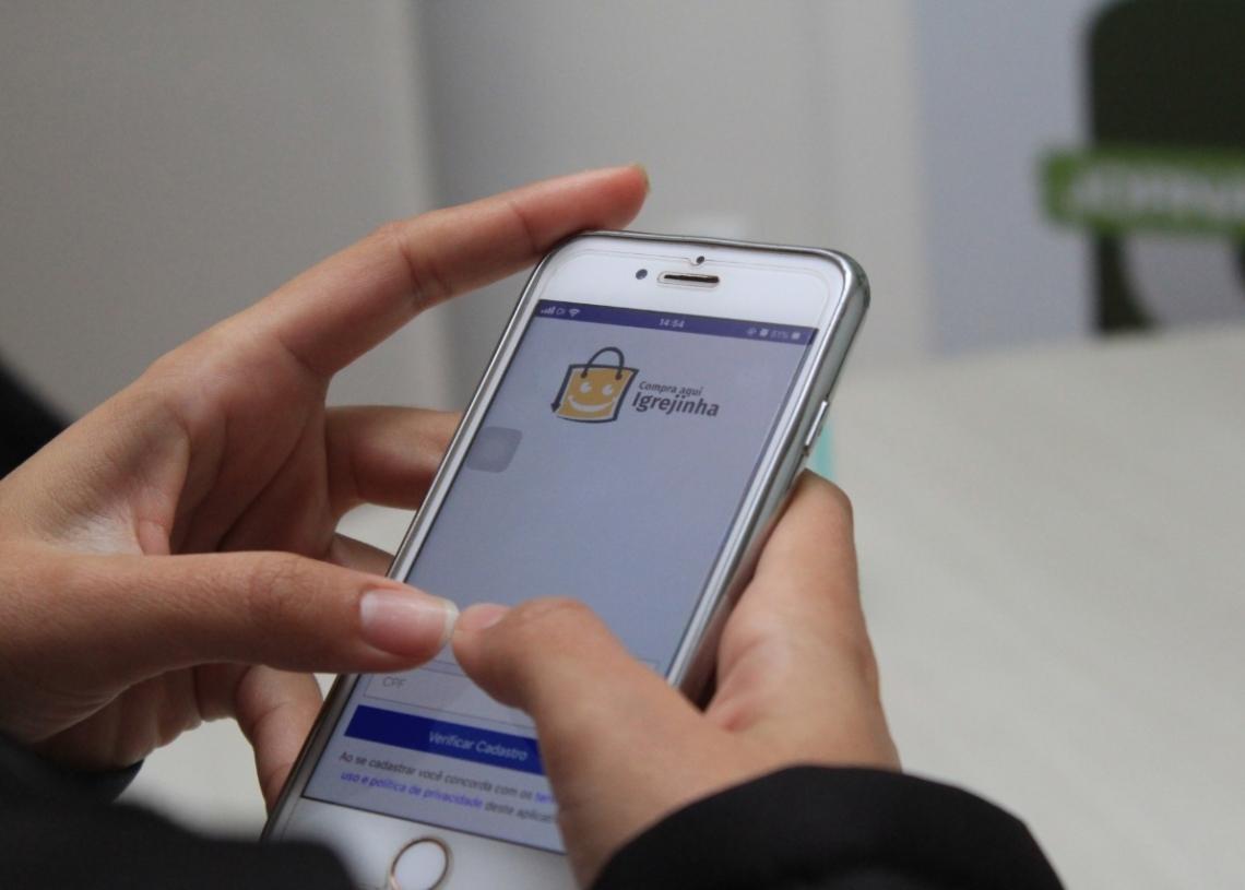 App já está disponível para download nos sitemas operacionais Android e IOS Foto: Matheus de Oliveira