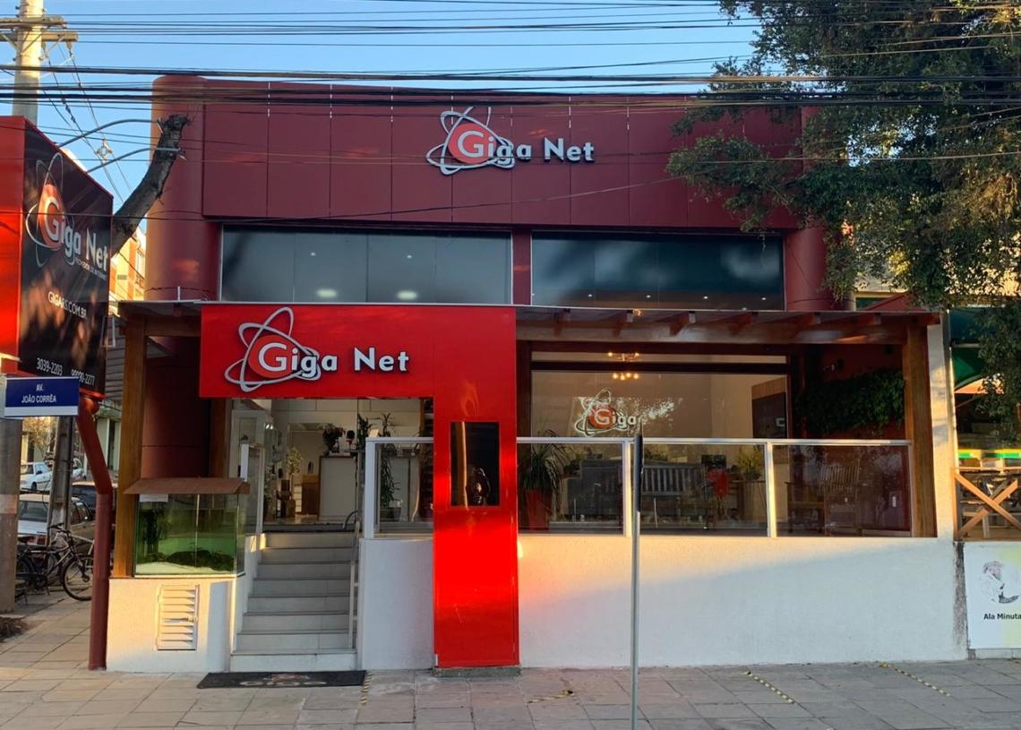 A Giga Net fica localizada no centro de Sapiranga Foto: Giga Net