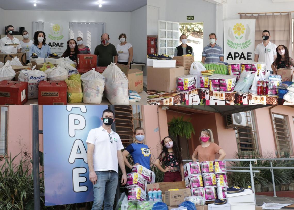 APAEs receberam o repasse de donativos na terça-feira (21) | Fotos: Júnior Santos