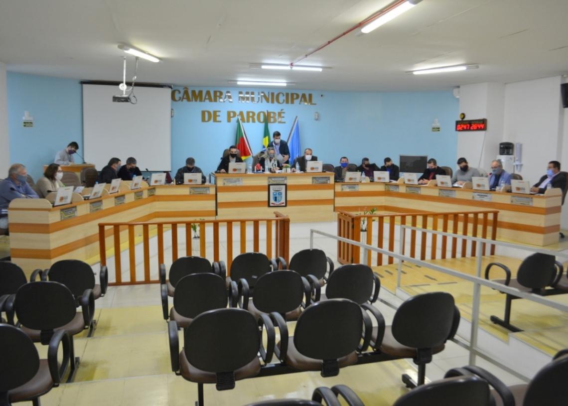 Vereadores reunidos em Sessão Ordinária | Foto: Eduarda Rocha