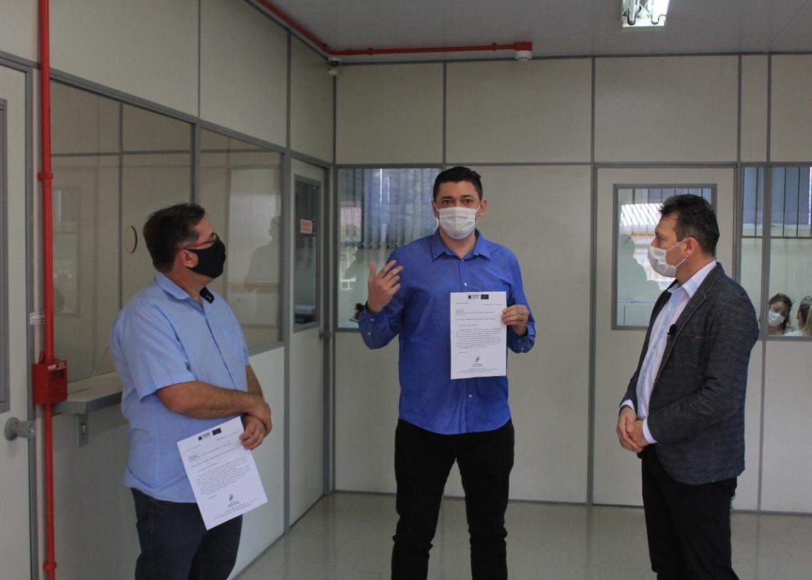 Ato simbólico da entrega aconteceu na última quinta-feira, dia 23, no hospital. Foto: Matheus de Oliveira