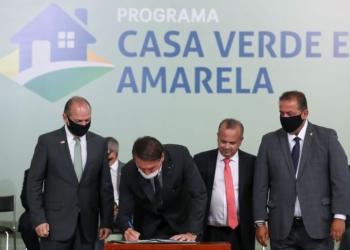 Cerimônia de  lançamento do Programa Casa Verde e Amarela Foto: Agência Brasil