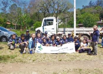 Parte do grupo que compõe o movimento no município Fotos: Grupo de Escoteiros de Igrejinha