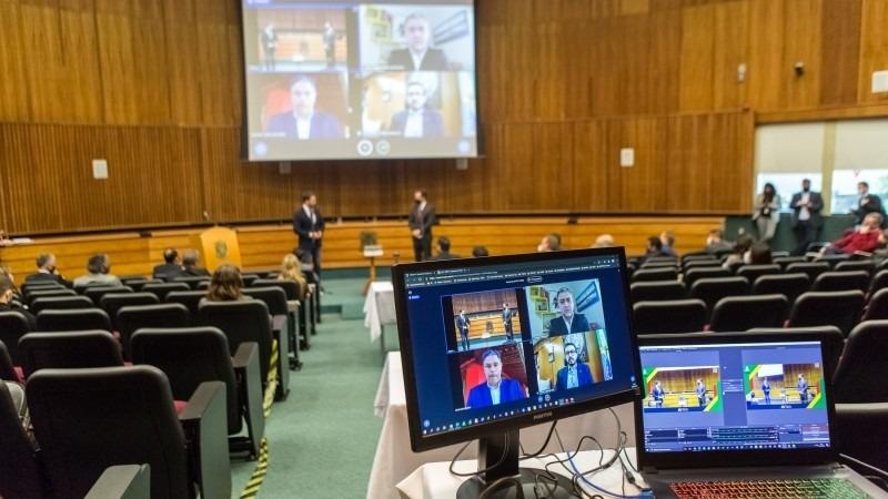 Cerimônia no auditório do MP   Foto: Gustavo Mansur