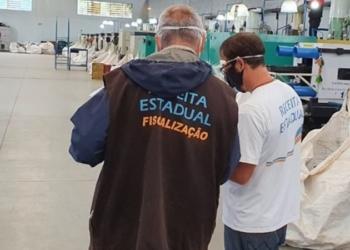O alvo da operação é um grupo de empresas que atua no ramo de produção de materiais utilizados em instalações de internet - Foto: Divulgação / Receita Estadual