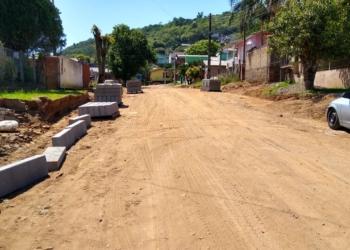 Rua Iraí, no bairro Nova Parobé, com obras | Foto: Eder Zucolotto