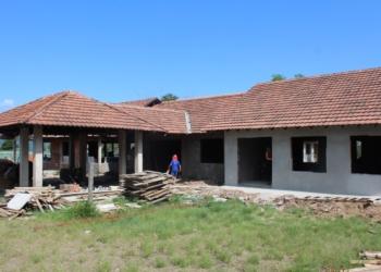 Obra da escola está com 32% concluída  Foto: Lilian Moraes
