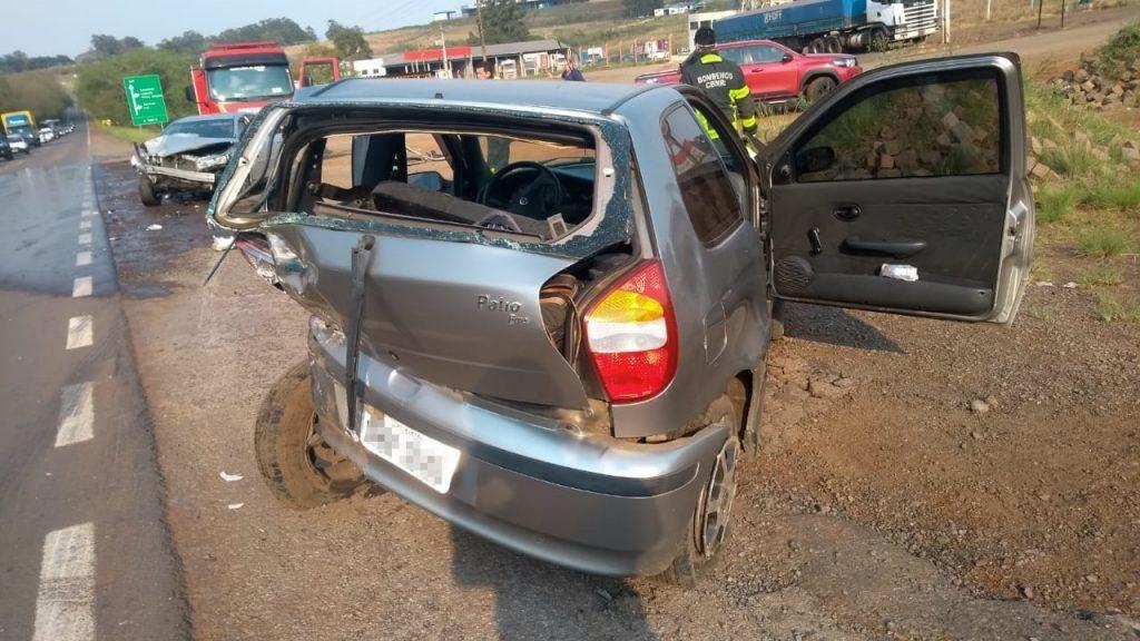 Grave acidente aconteceu nesta quinta-feira (Cred. Corpo de Bombeiros)