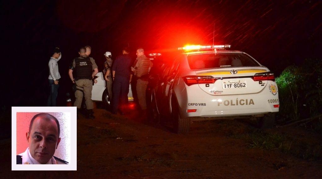 Corpo do tenente foi localizado no final da rua Travessão Campo Bom, em meio ao chão batido e matagal (Foto maior: Melissa Costa. Foto menor: arquivo)