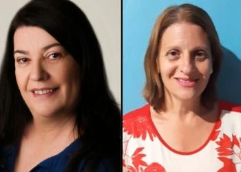 Professora Simone, à esquerda, e professora Biba, à direita Foto: Divulgação