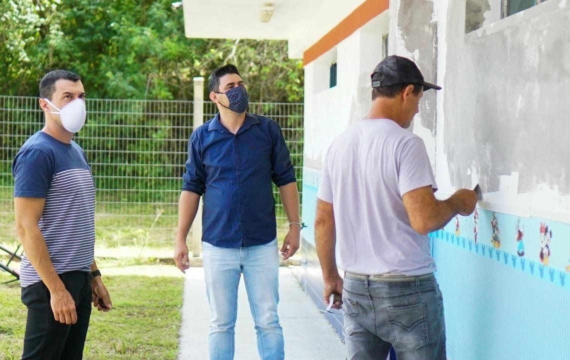 Reforma nas escolas  é uma das demandas  deste início de gestão: foco no retorno às aulas  Foto: Prefeitura de Riozinho