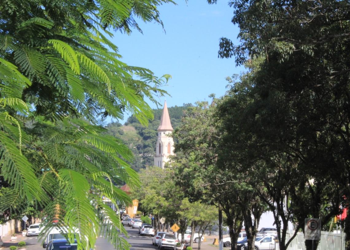 Centro da cidade conta com projeto de arborização. Foto: Matheus de Oliveira