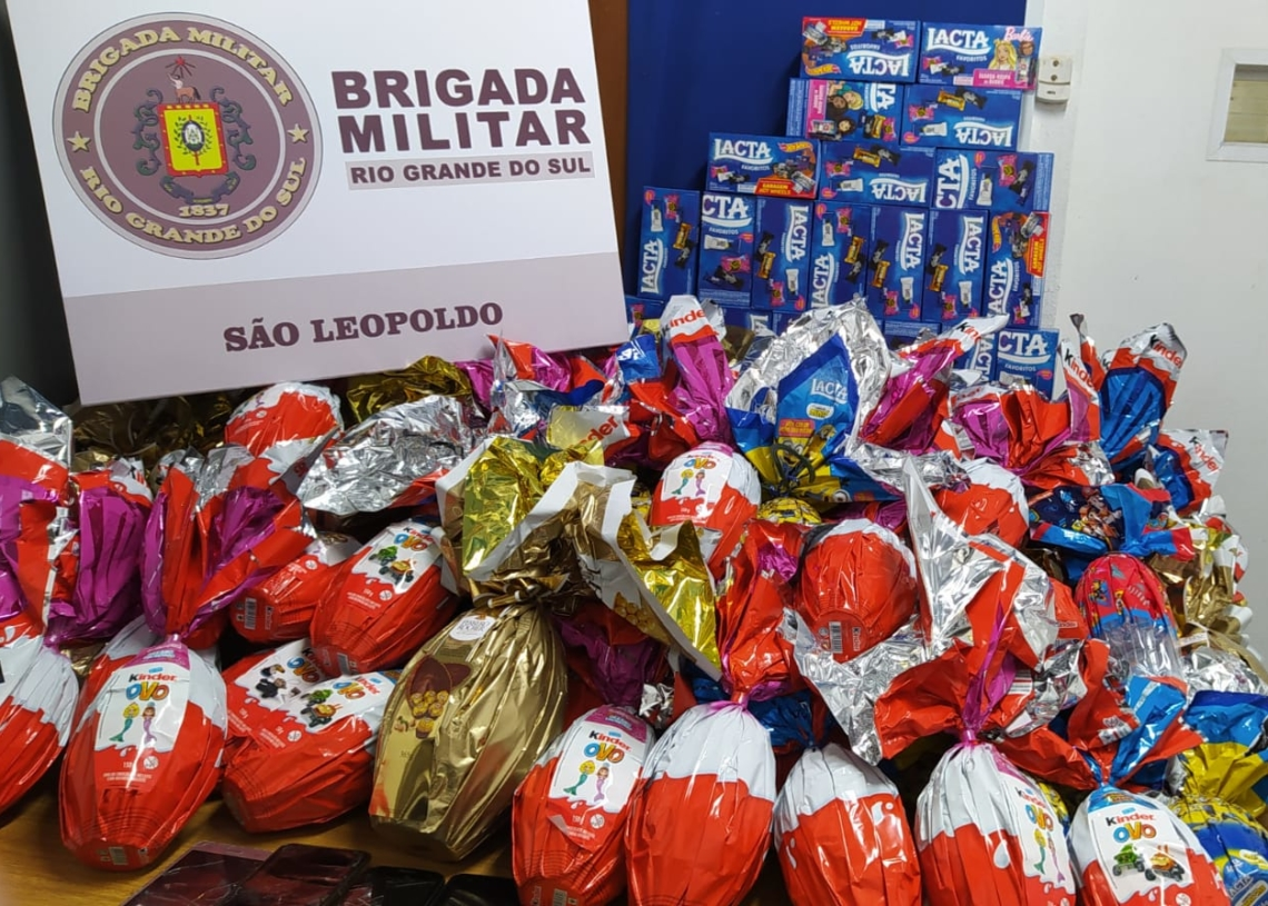 Produtos dos três furtos recuperados Foto: Brigada Militar
