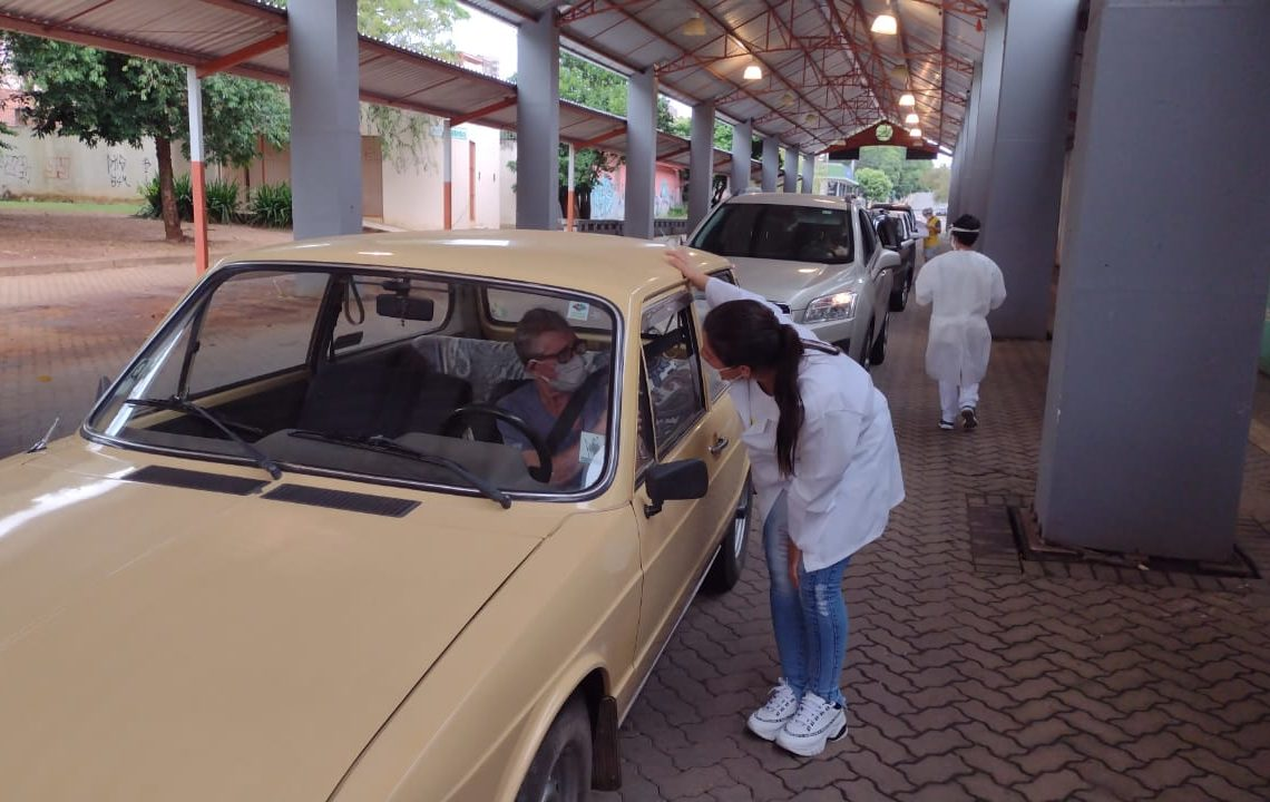 A segunda-feira foi de grande movimentação para vacinar contra a Covid. Foto: William Coelho/Prefeitura de Taquara
