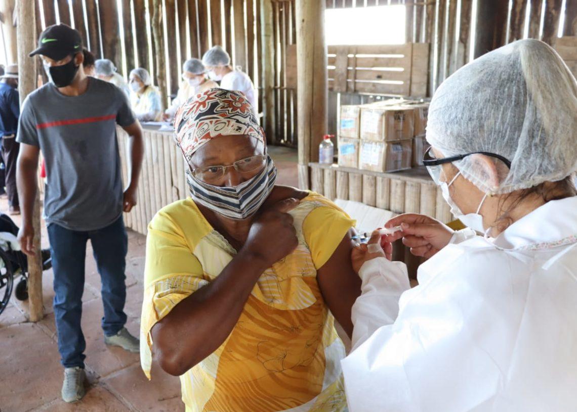 Foram destinadas 190 doses da vacina para moradores da comunidade do Quilombo do Paredão. Foto: Cris Vargas / Prefeitura de Taquara