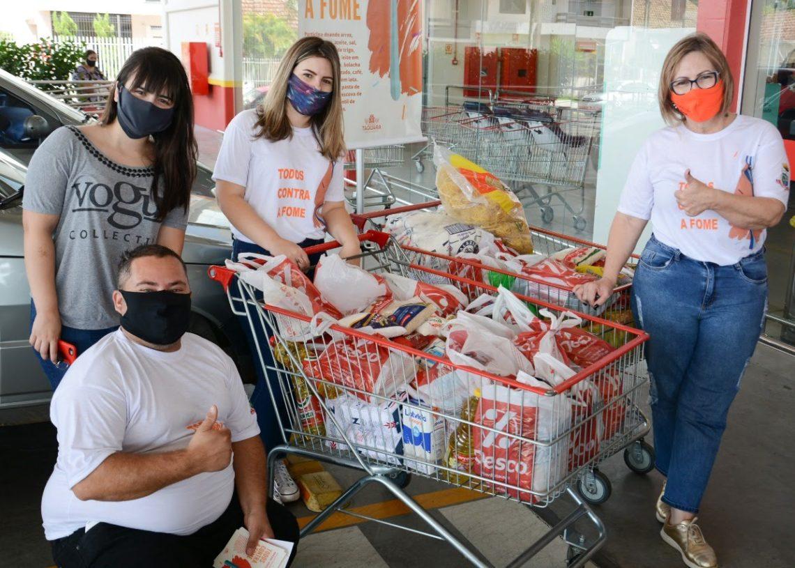 Campanha Todos Contra a Fome já arrecadou toneladas em alimentos desde que iniciou em fevereiro. Créditos de Imagem: William Coelho