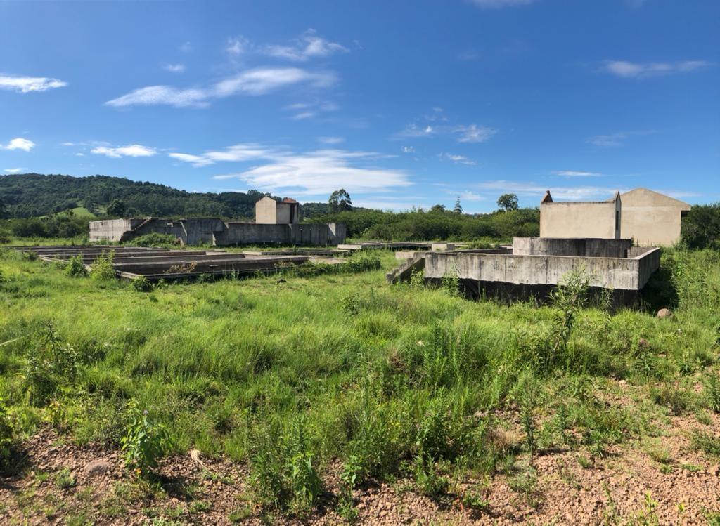 Estação de Tratamento de Esgoto de Rolante, com obras paradas desde o ano passado.  Foto: Lilian Moraes