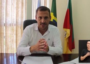 Em vídeo nas redes sociais, prefeito Diego Picucha elencou argumentos em favor da medida. Foto: Reprodução