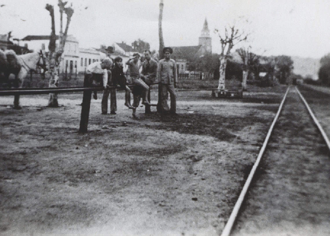 Rua Dr. Legendre em 1939, vista da estação Foto: Arquivo/Secretaria de Cultura de Parobé