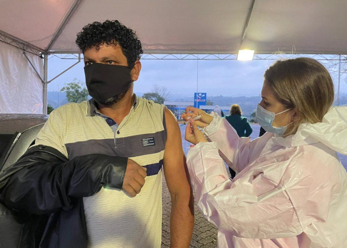 Neste sábado, município concluiu vacinação em pessoas com 40 anos ou mais Foto: Cris Vargas/Prefeitura de Taquara