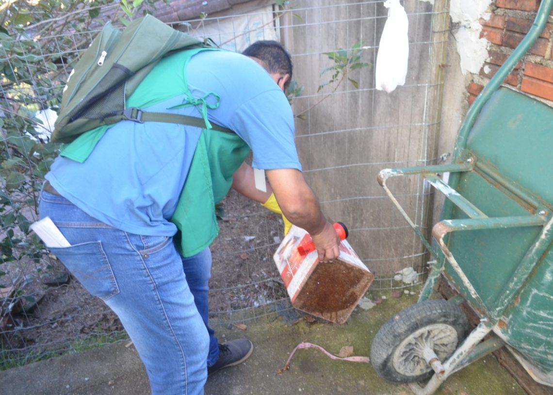 Agentes de endemias visitam periodicamente as moradias em Taquara - Créditos: Divulgação/Secretaria de Saúde