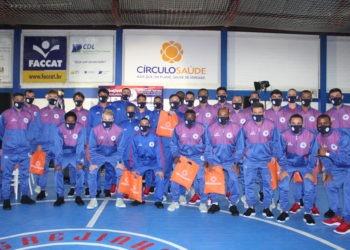 Plantel apresentado conta com 27 jogadores no total Foto: Lilian Moraes