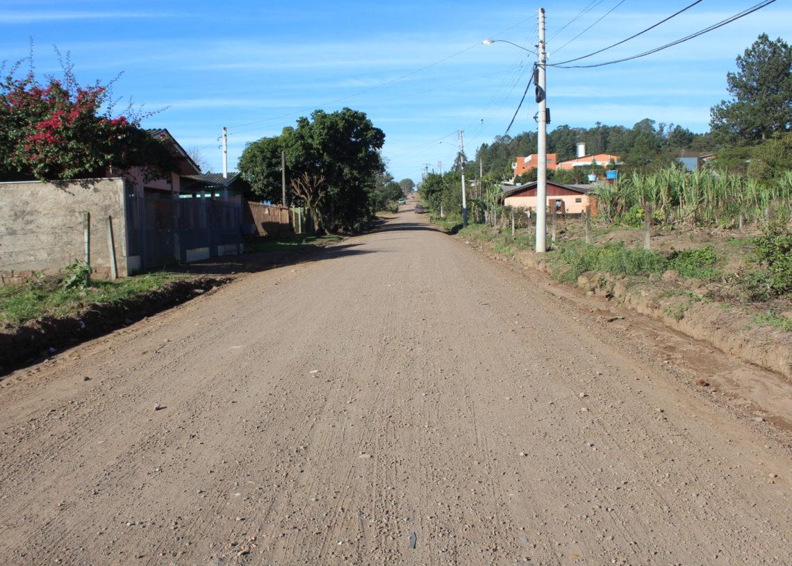 Rua Arthur Wallauer, na entrada do loteamento Foto: Lilian Moraes