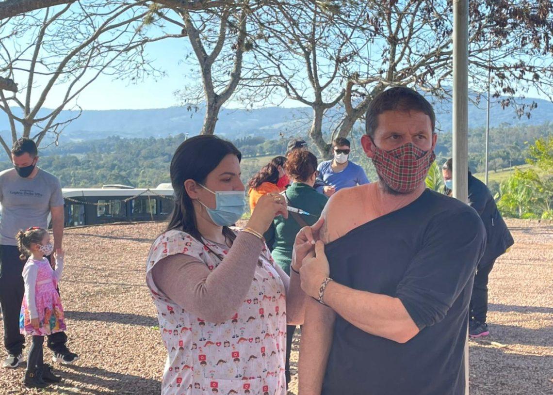 Vacinação ocorre no campus da Faccat das 8 às 14 horas. Foto: Divulgação
