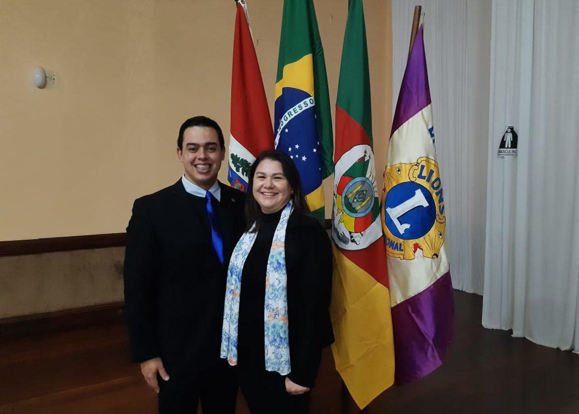 Diogo Pietro e Amanda Henemann, casal presidente Foto: Divulgação
