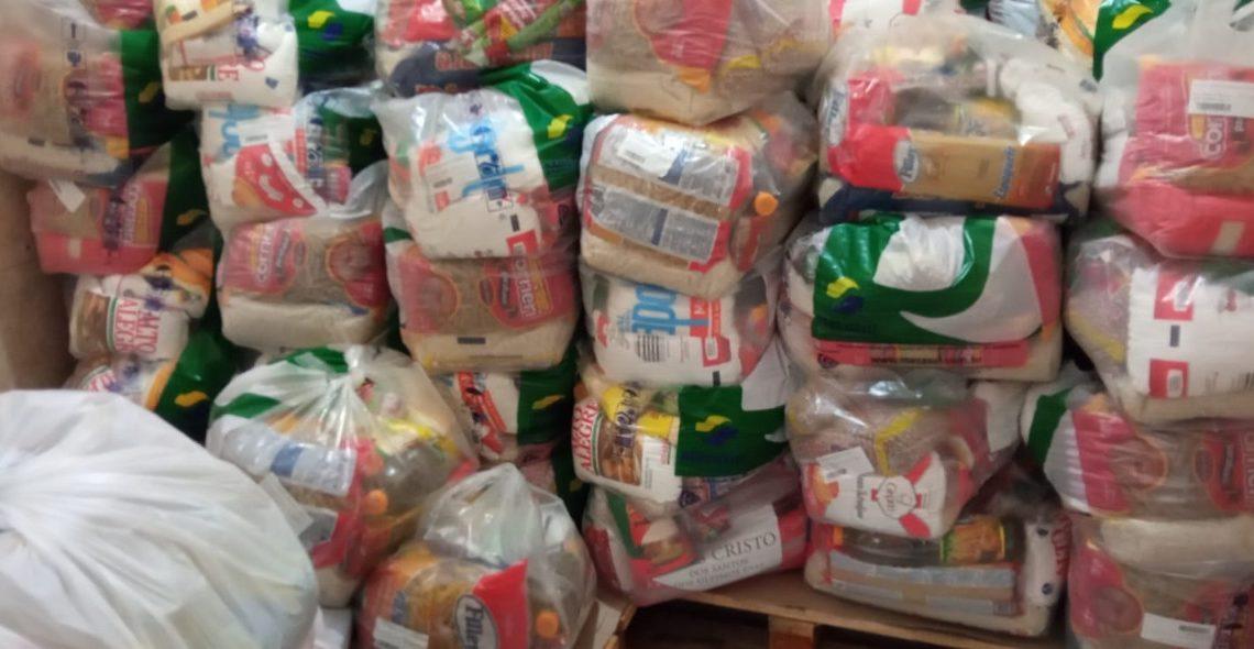 Ao todo, foram 110 cestas básicas recebidas Foto: Divulgação/Prefeitura de Taquara