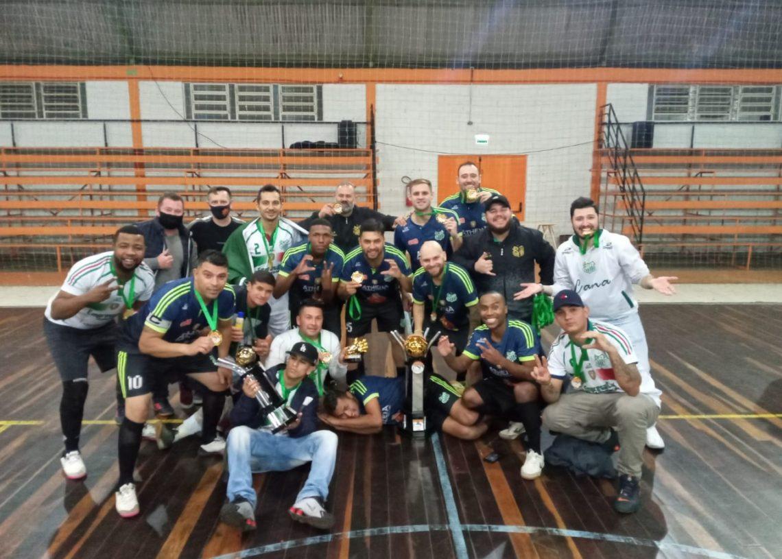 Pela Série Ouro masculina, Cana Verde/Mercado Petrópolis conquistou o título  Foto: Divulgação/Prefeitura de Taquara