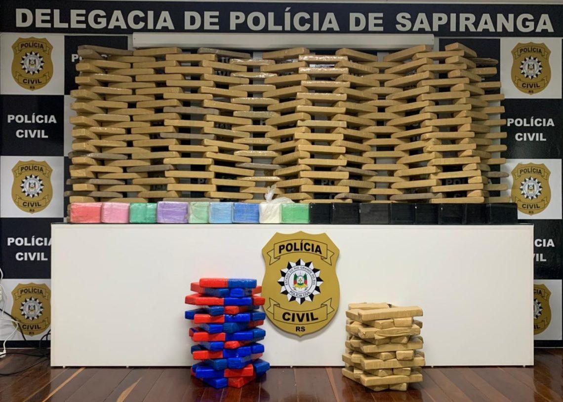 Droga avaliada em  R$ 1 milhão apreendida pela Polícia Civil de  Sapiranga no mês de julho  (Foto: Arquivo/JR)