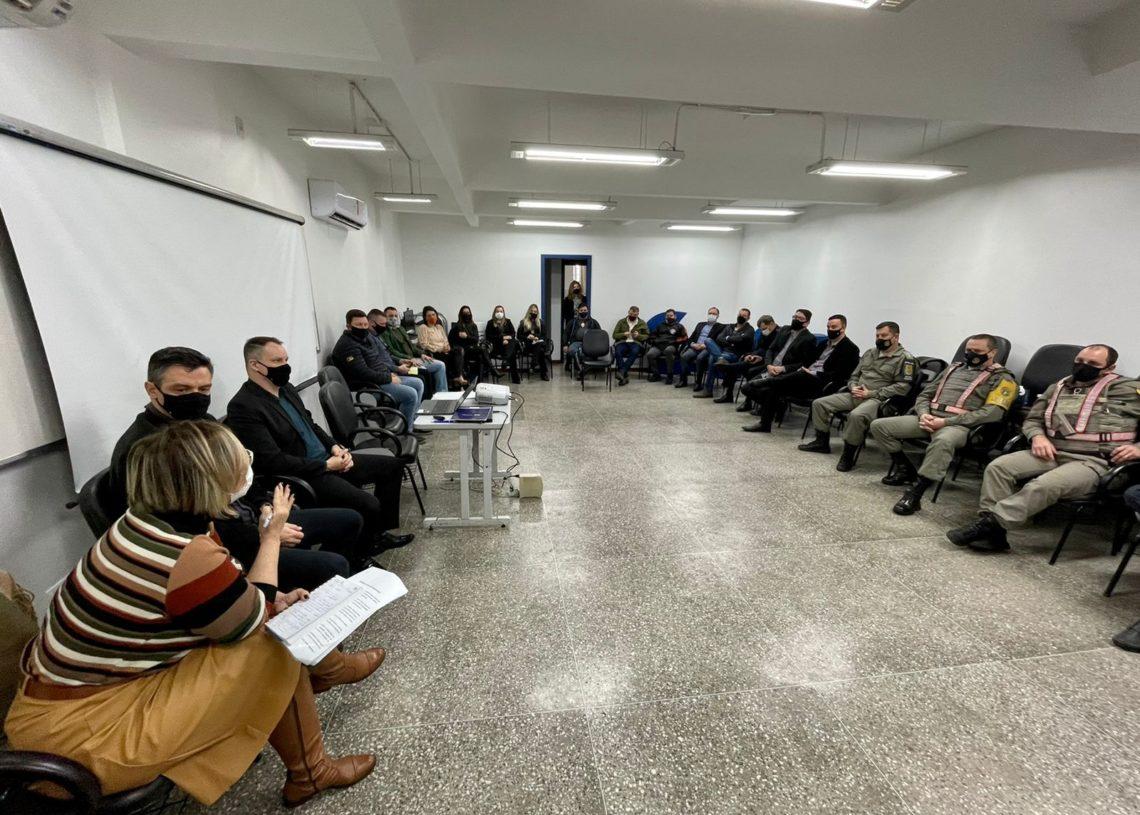 Reunião ocorreu na manhã desta quarta-feira no Sesc Taquara Foto: Cris Vargas/Prefeitura de Taquara
